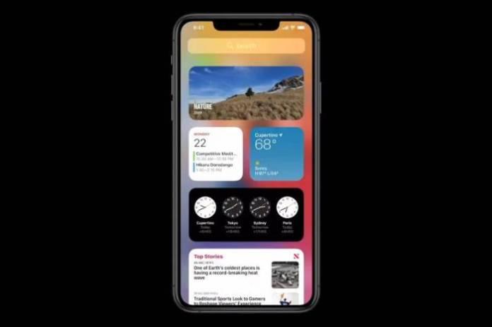 widgets on iOS 14