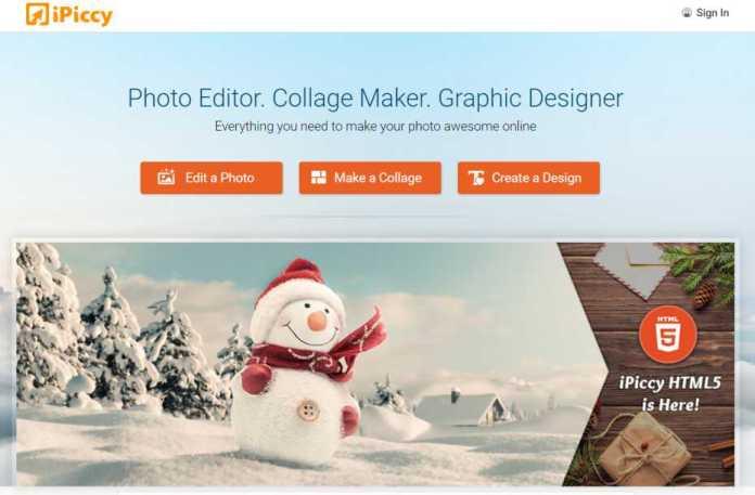 iPiccy.com – Online Photo Editor