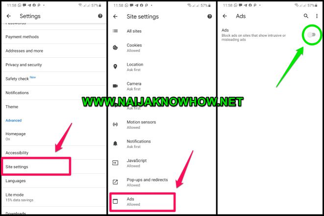 block ads on google chrome mobile