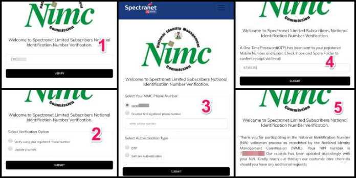 link nin to spectranet