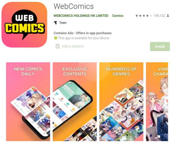 WebComics - webtoon reading sites and apps