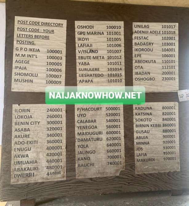 lagos nigeria zip or postal codes