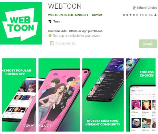 line webtoon - webtoon reading sites and apps