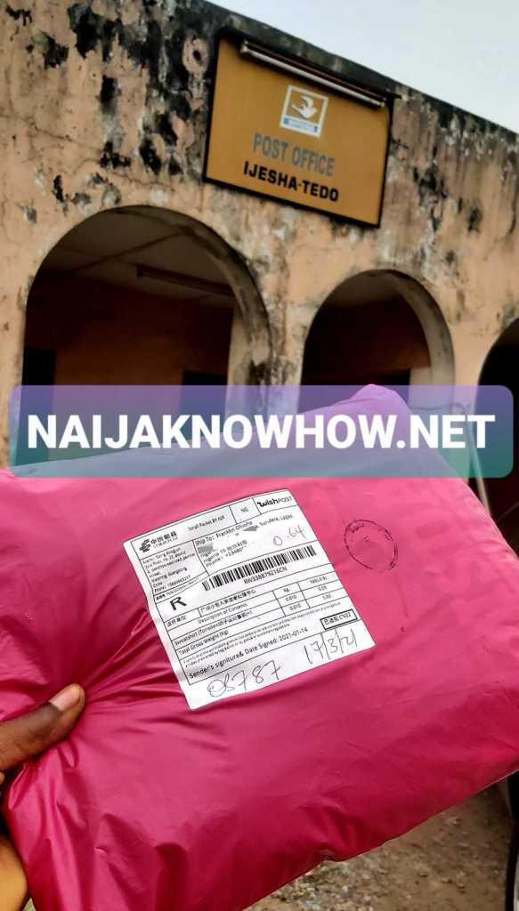 wish order pickup at nigerian post office