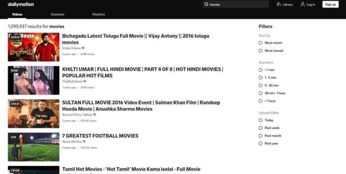 dailymotion - movie site like TFPDL