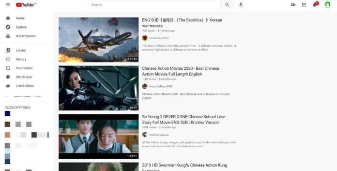 youtube chinese movies