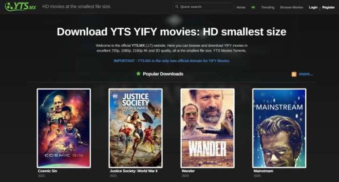 yts - movie site like TFPDL