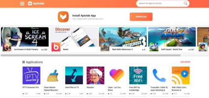 Aptoide - APK Download Website