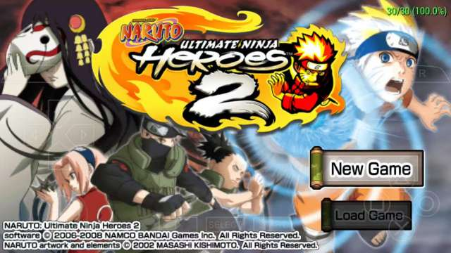 Naruto Ultimate Ninja Heroes 2 PPSSPP