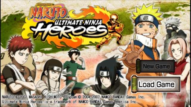 Naruto Ultimate Ninja Heroes PPSSPP