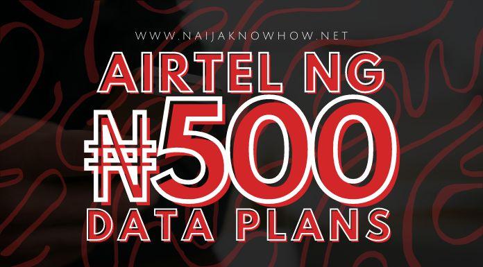 best airtel 500 naira data plans