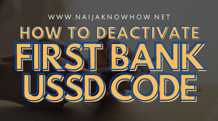 how to deactivate first bank ussd code