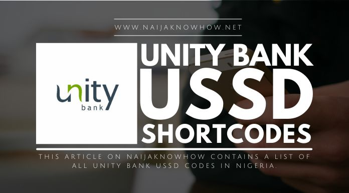 unity bank ussd codes