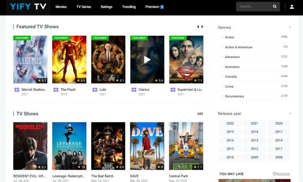 yify tv - free tv series download website