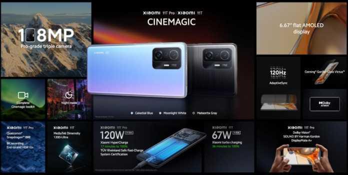 Xiaomi 11T Pro Specs
