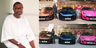 Otedola Gifts His Daughters Three Ferrari Portofino Each(PHOTOS)