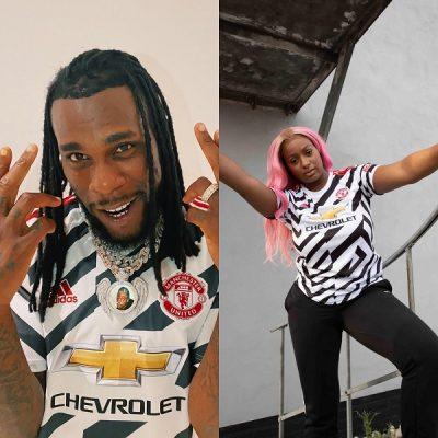 Burna Boy & DJ Cuppy Launch Manchester United's New Football Kit