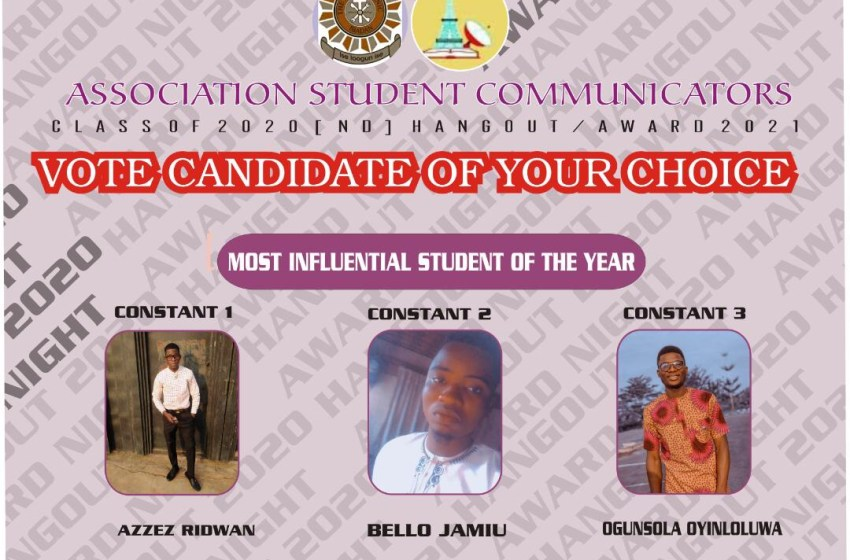 VOTE MOST INFLUENTIAL STUDENTS OF THE YEAR