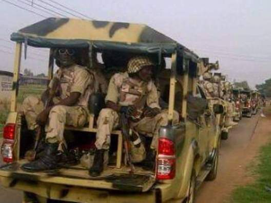 Gallant men of the Nigerian Army