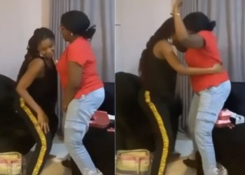 Simi Teaches Her Mum how to Whine waist [Video]