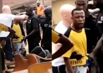 """Na Yahoo Boy you be"" Lady Praises Yahoo Boy as SARS cuffs him (Video)"