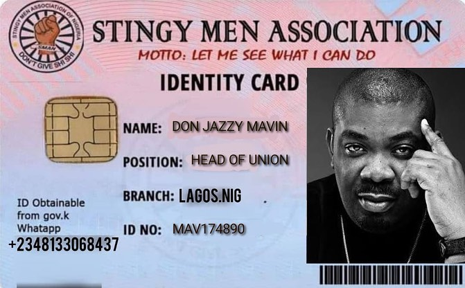Don jazzy Officially Joins Stingy Men Association of Nigeria