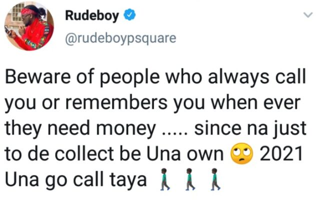 Rudeboy advices fans on who to beware off