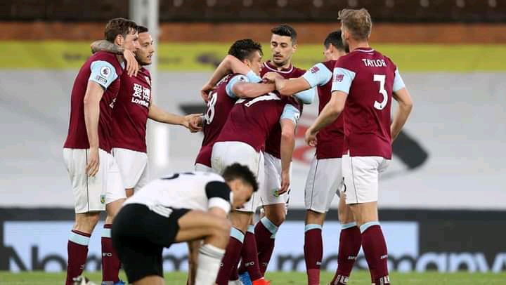 Fulham relegated after a 2-0 defeat to Burnley