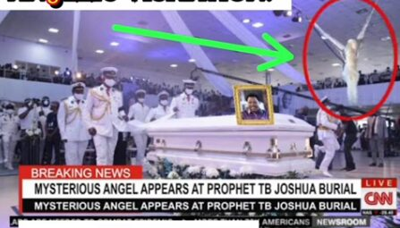 OMG! Angel Appears Live on TB Joshua's Funeral (VIDEO)