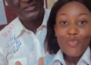My experience being in the same class with my father for five years; young lady recounts