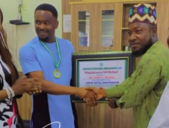 Zubby Michael Receives Award From Northern Youth Peace Ambassadors