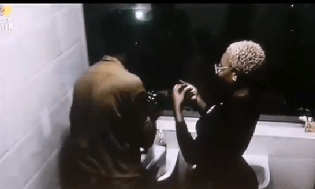 BBNaija Boma and Beatrice Caught on Camera in the Rest Room (+18)