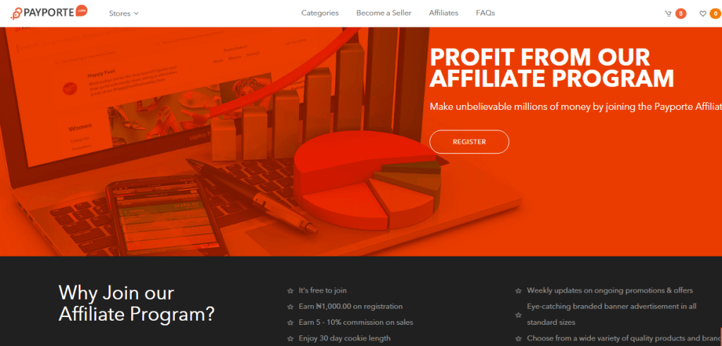 PayPorte Affiliate Marketing Sign Up