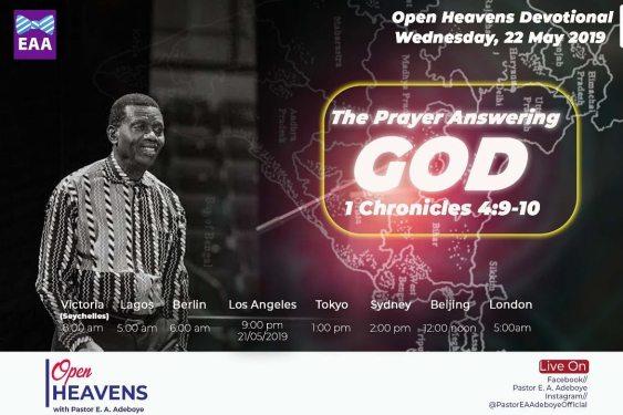 Open Heavens Devotional 22nd May
