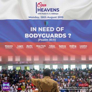 Open Heavens Devotional 26 August 2019