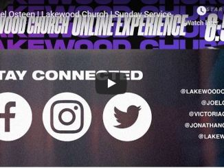 Lakewood Church Live service 22 March