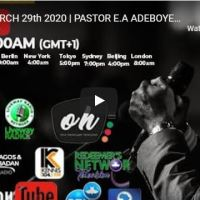 RCCG Sunday Live Service With Pastor E.A Adeboye March 29 2020