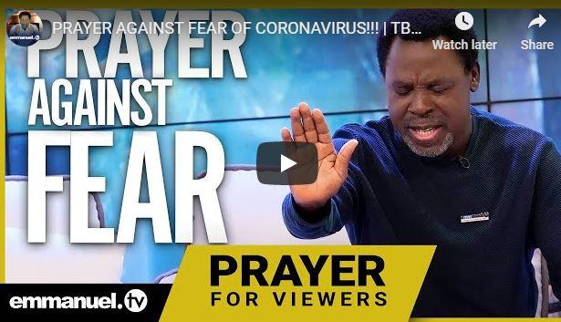 TB Joshua Prayer Coronavirus