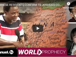Coronavirus Prophecy By TB Joshua Confirmed By Chinese Residents