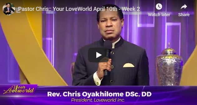 Good Friday Service With Pastor Chris Oyakhilome