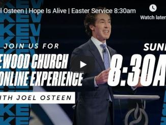 Joel Osteen Live Easter Sunday Service In Lakewood Church