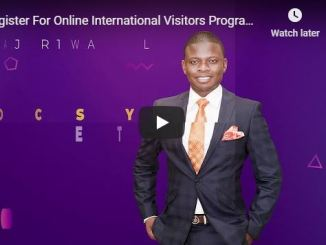 Register Online International Visitors Program Shepherd Bushiri
