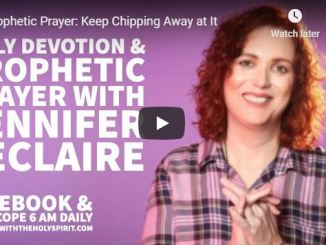 Jennifer Leclaire Message - Keep Chipping Away at It - May 20 2020