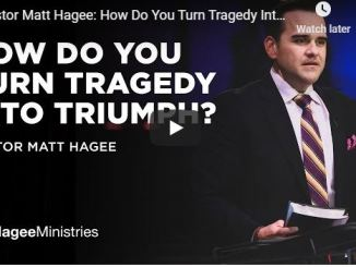 Pastor Matt Hagee Sermon - How Do You Turn Tragedy Into Triumph