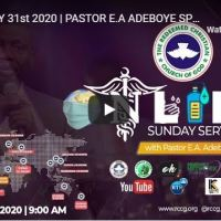 RCCG Sunday Live Service May 31 2020 With Pastor Adeboye