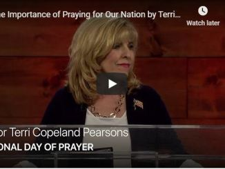 Terri Copeland Pearsons - The Importance of Praying for Our Nation