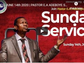 RCCG Sunday Live Service June 14 2020