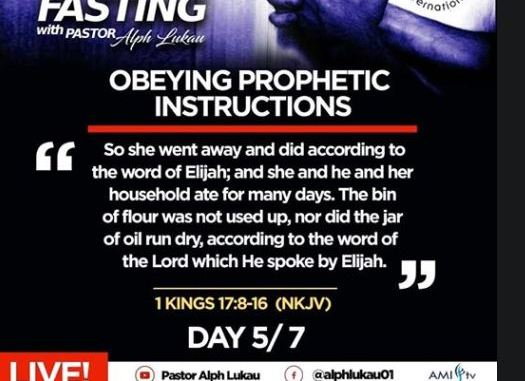Day 5 of 7 Days Fasting With Alph Lukau – July 5 2020 – Alleluia Ministries