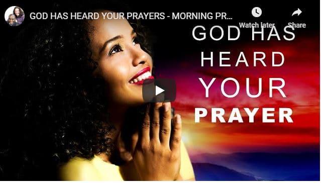 Morning Prayer - Pastor Sean Pinder - God Has Heard Your Prayers