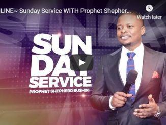 Prophet Shepherd Bushiri Sunday Live Service July 5 2020 In ECG